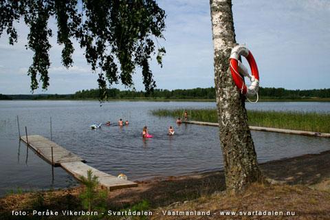 Paradiset, en badplats i Svartådalen, Västmanland