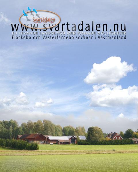 Svartådalen - en levande landsbygd i Västmanland. Sala kommun. Nära Västerås.