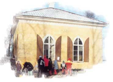 Braheholmen i Fläcksjön. Ebba Brahes lusthus i Västmanland.