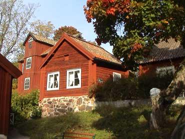 Gamla hus i Sätra Brunn, Västmanland